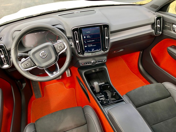The optional orange lave interior is the perfect amount of character for this small SUV.