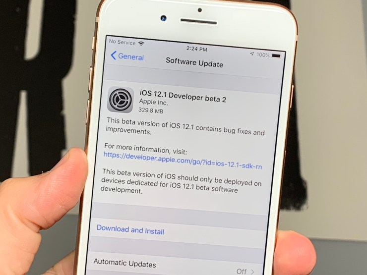 Install the Beta to Help Improve iOS 12.1