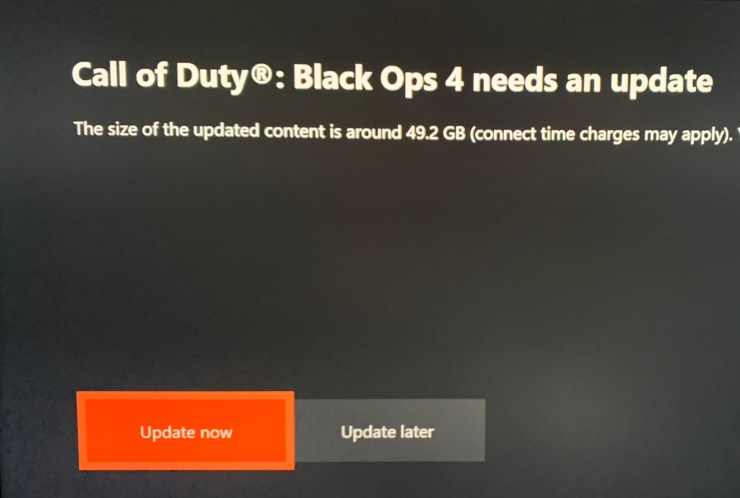 Expect a decent size for the October Call of Duty: Black Ops 4 update.