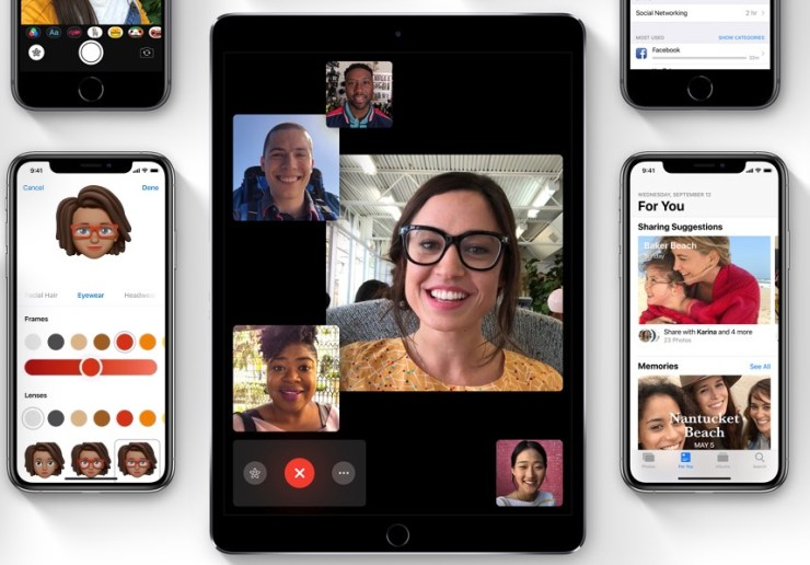 Group FaceTime in iOS 12.1