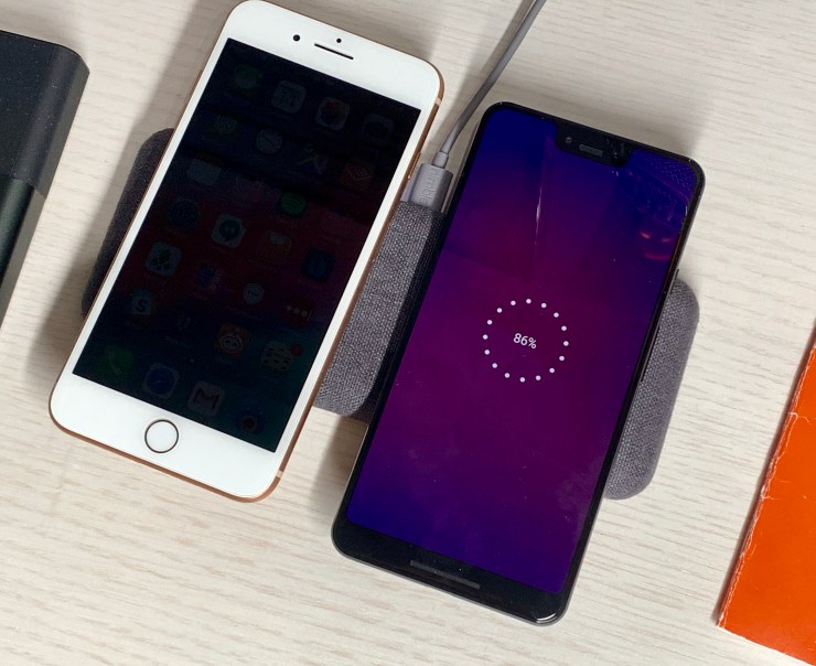 Charge an iPhone and an Android at the same time.