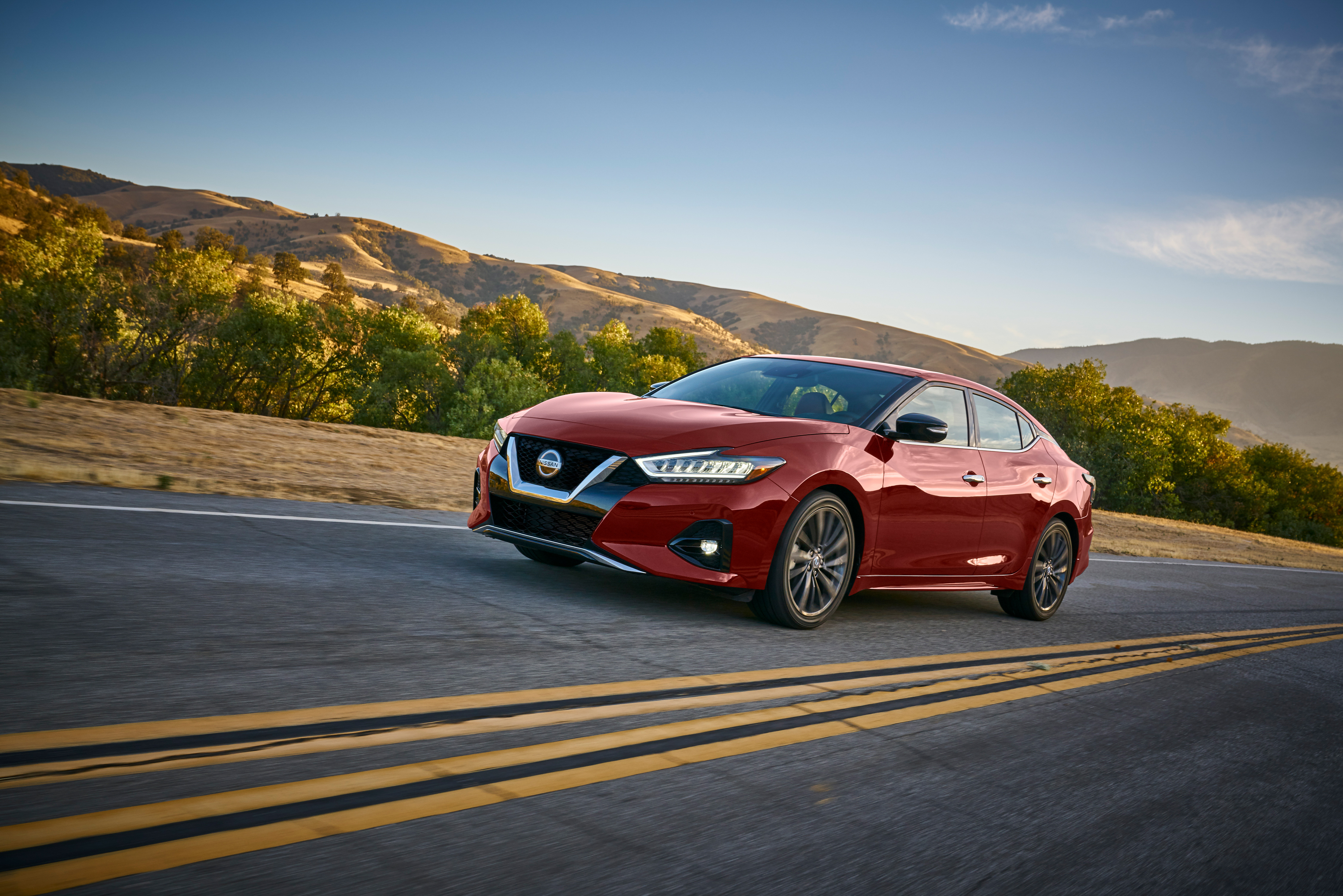 The 2109 Nissan Maxima features a sporty look and upgraded safety