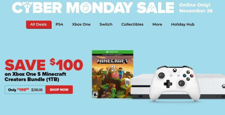 Save with GameStop's Cyber Monday deals.