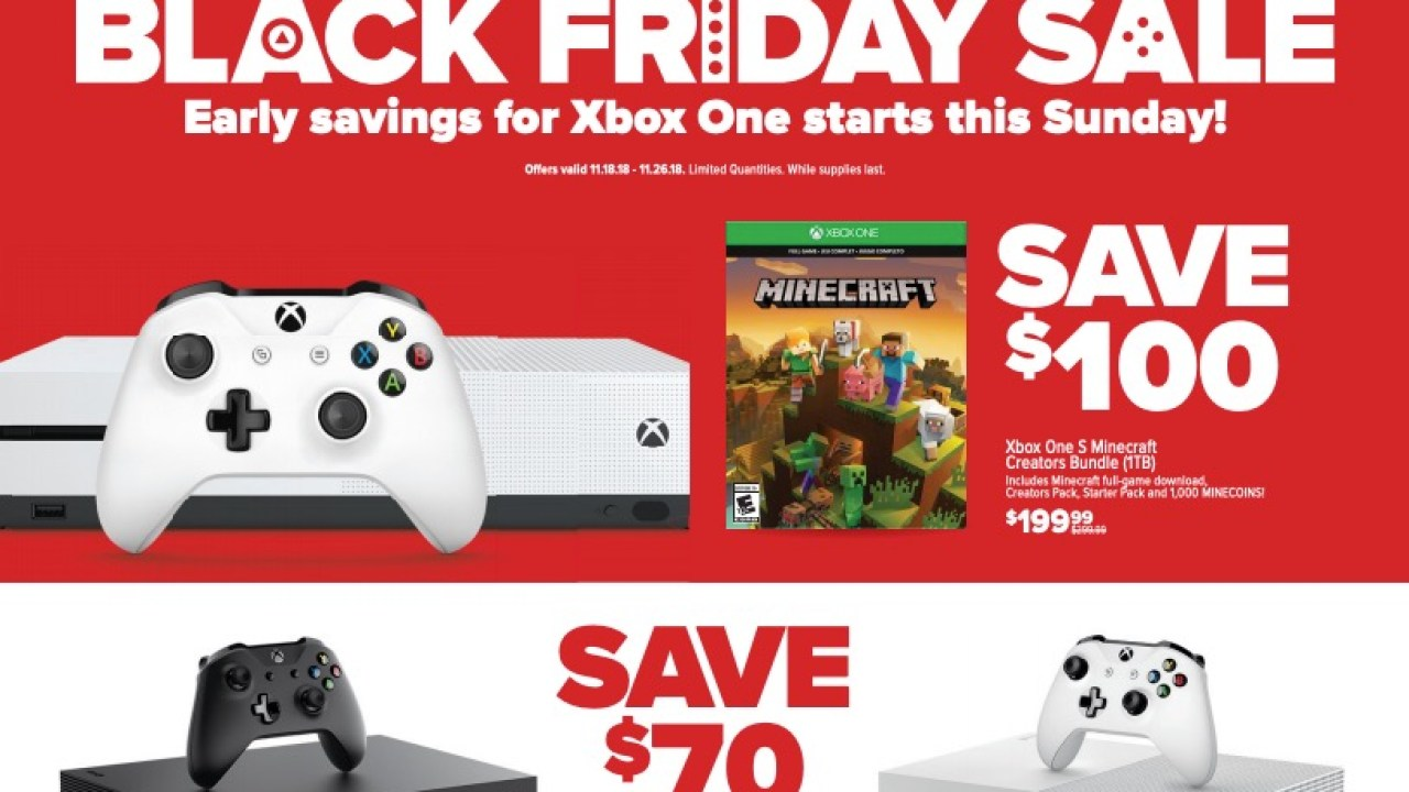 GameStop Black Friday Ad: Save $70 to $100 on Xbox One & PS4 + Huge