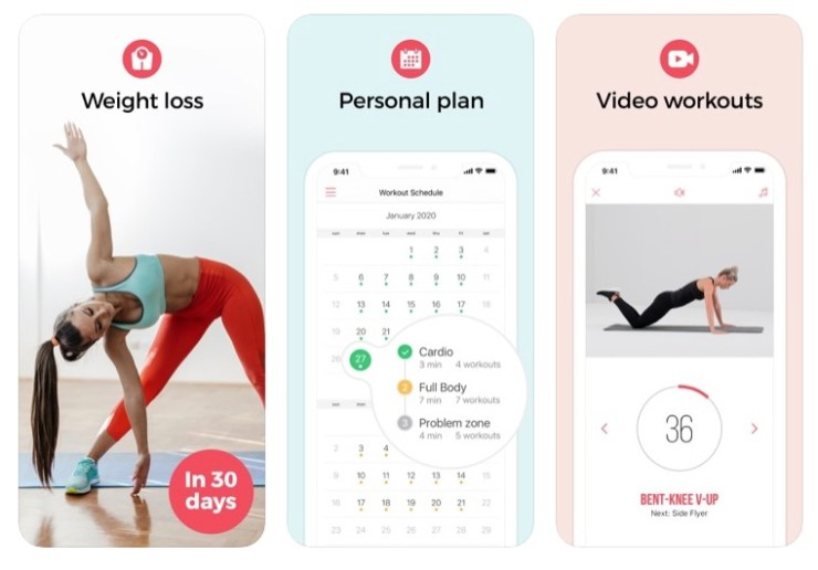 weight loss app screenshots