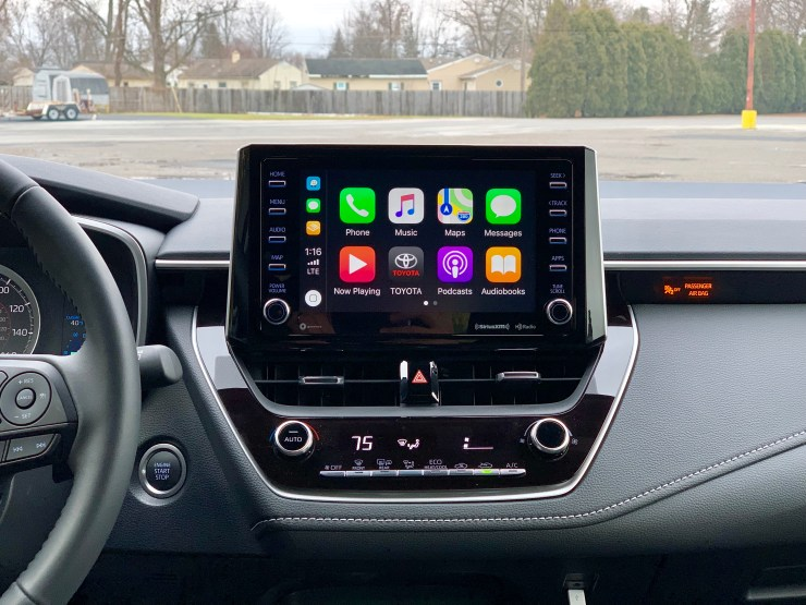 Apple CarPlay is standard, but there is no Android Auto.