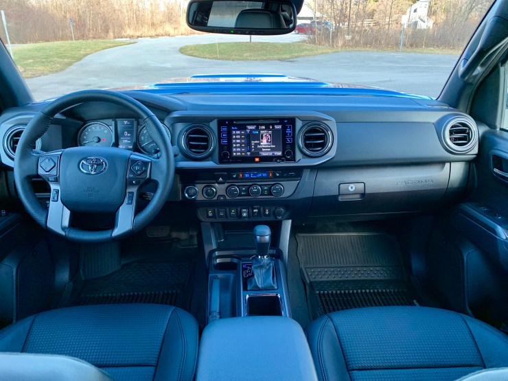 While not luxurious, the Tacoma's interior is spacious and well laid out.