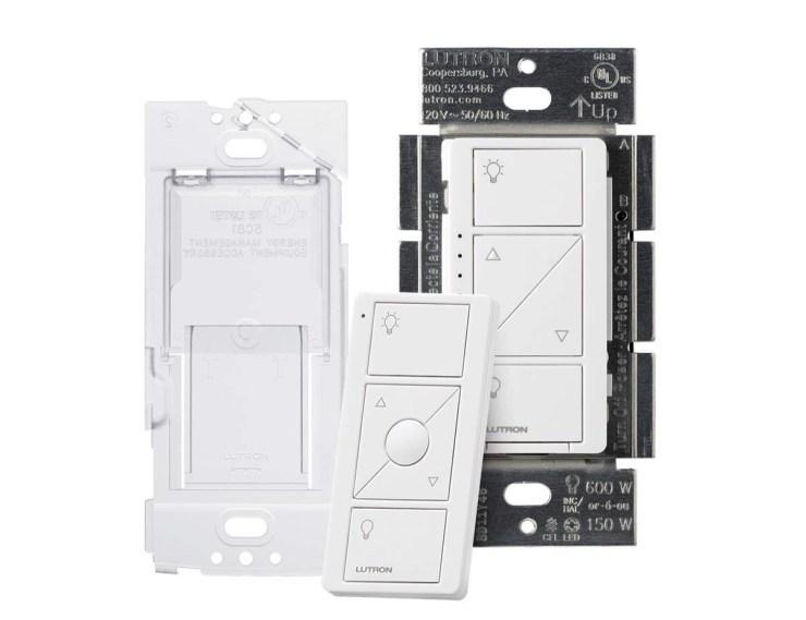 You need a Lutron Caséta smart switch and a Pico remote.
