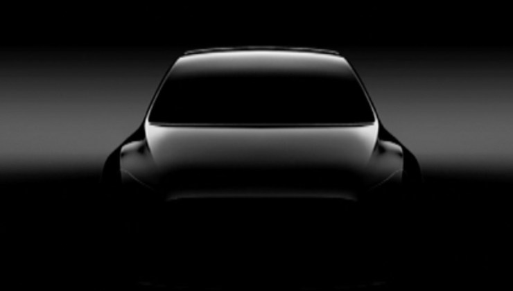Your first look at the Model y.