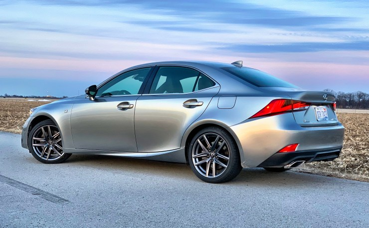The IS 350 F Sport looks the part of a compact sporty sedan.