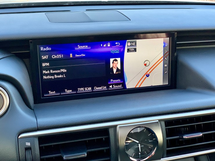 I like the large screen, but miss Apple CarPlay and Android Auto.