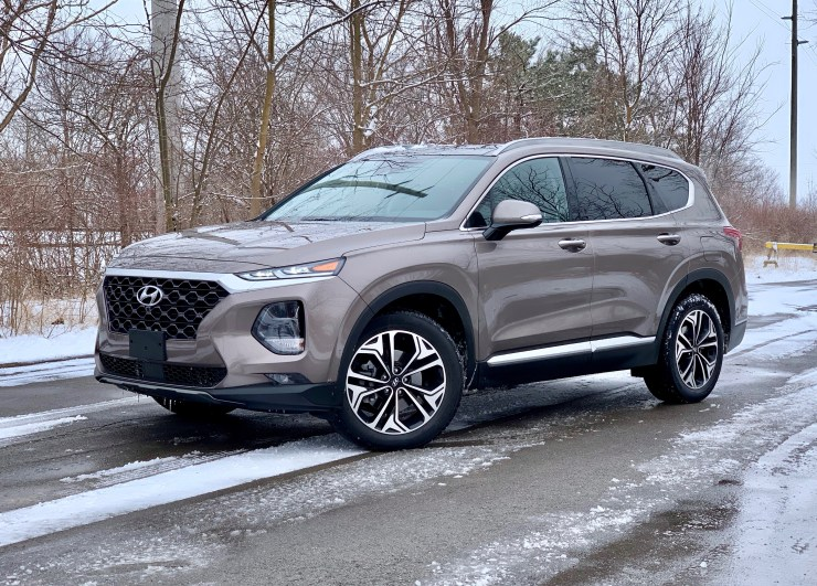 The 2019 Hyundai Santa Fe offers a comfortable ride.