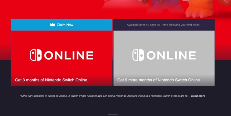 Get your free Nintendo Switch Online Membership.