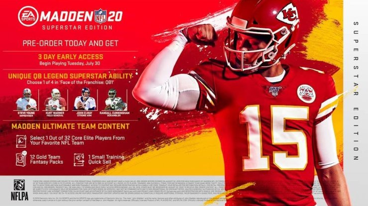 What you get with the standard Madden 20 Superstar edition.