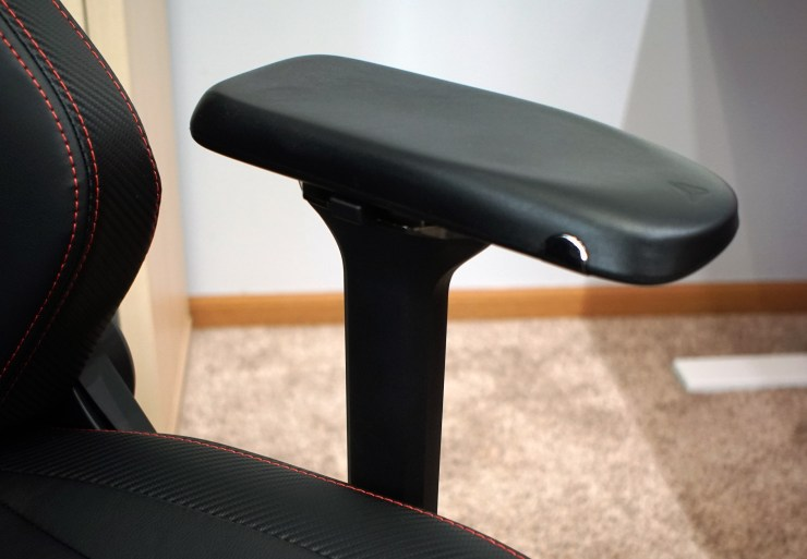 The new armrests improve the comfort and overall build quality of the new Titan.