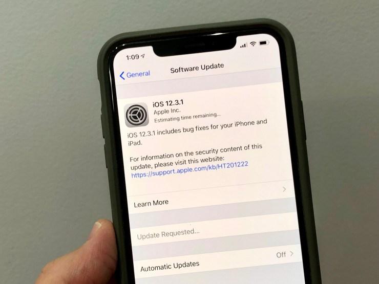 Instalar iOS 12.3.1 para una mejor seguridad