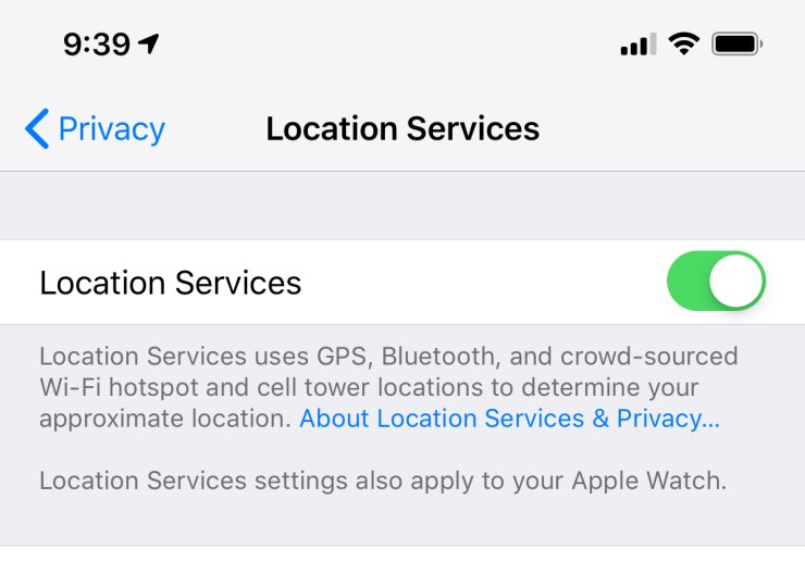 Toggle Location Services off and back on to fix many issues.