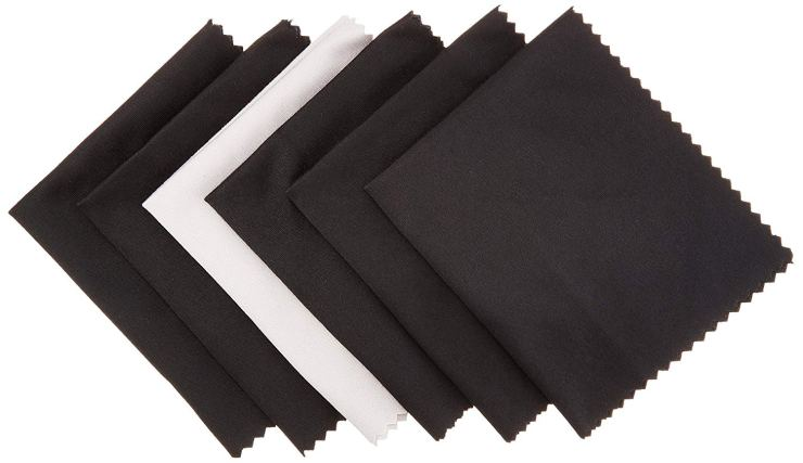 You'll want at least one microfiber cloth to keep the lenses clean.