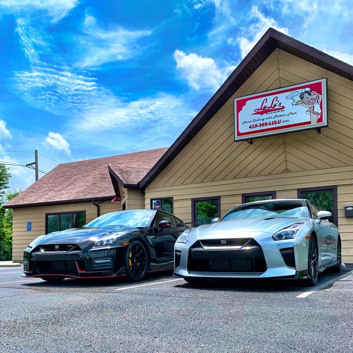 GT-R Road trip pit stop with a futurist.