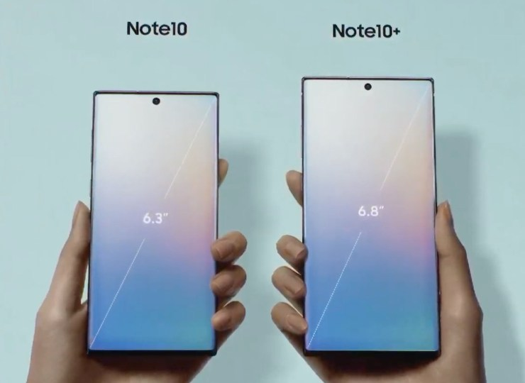Galaxy Note 10 vs Note 9: Display & Size