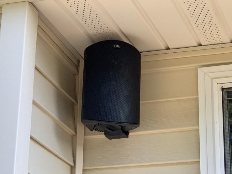 The Polk Atrium 5 speakers look good.