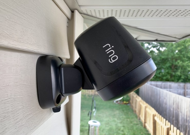 The Ring Spotlight is easy to install.