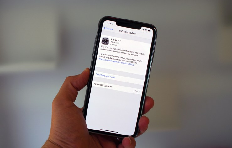 Install iOS 12.4.1 for Better Security