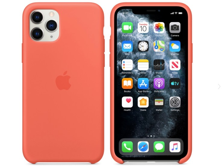 The silicone Apple iPhone 11 Pro case is a great option.