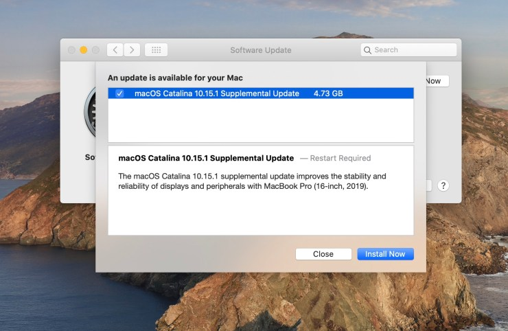 Fix MacBook Pro 16 problems with this update.