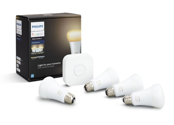 Hue lights are a great smart home gift for your parents.