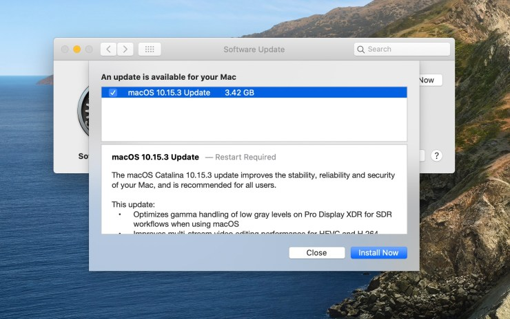 Install for macOS 10.15.3 Fixes
