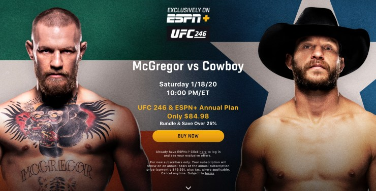 How To Watch And Stream Conor Mcgregor Vs Cowboy Live