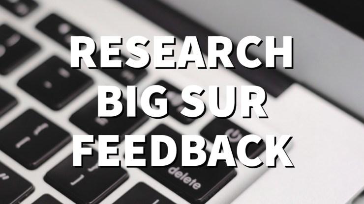 Research macOS Big Sur Feedback