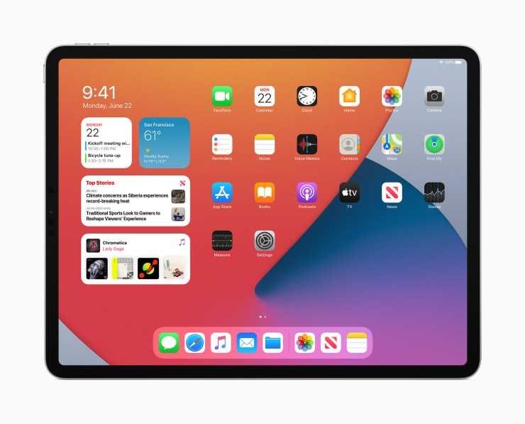Install iPadOS 14 for Widgets on the Home Screen