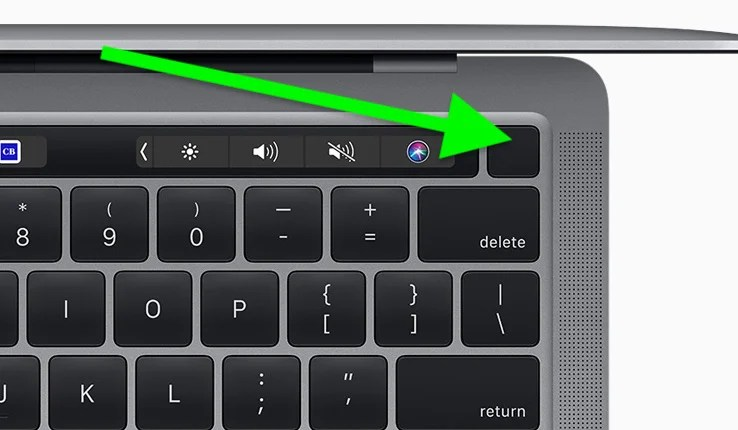 MacBook Reset Power Button on Keyboard