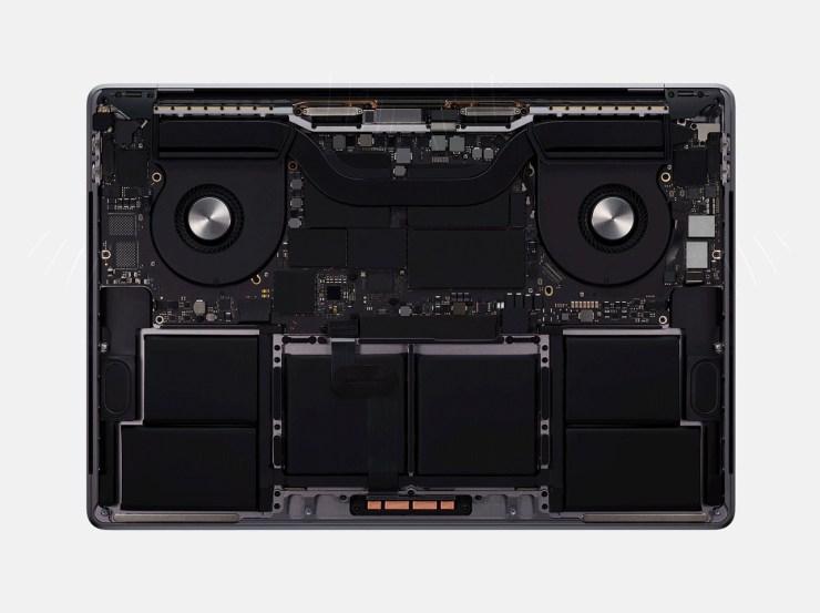 MacBook Pro inside battery