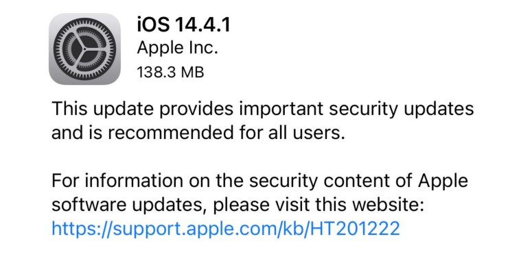Install iOS 14.4.1 for Better Security
