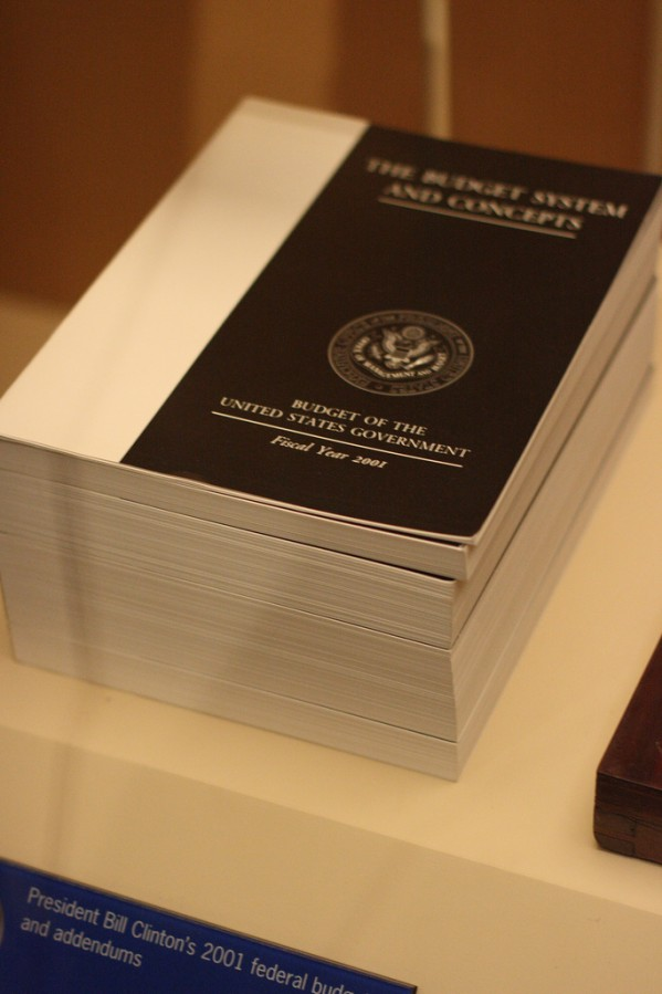 Hard Copy of the Federal US Budget