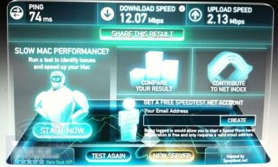 AT&T 4G LTE speed test