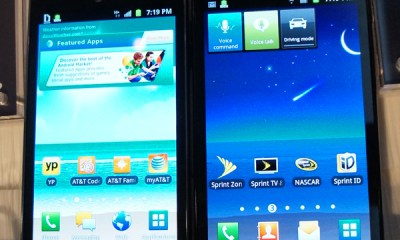 AT&T and Sprint versions side by side Samsung Galaxy S II