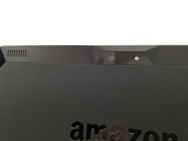 A surprisingly capable camera is on the back of the Fire HDX 8.9.