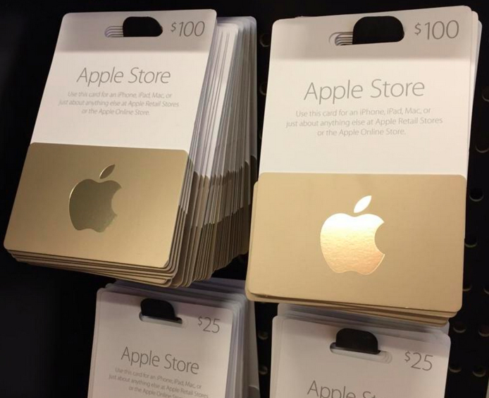 Apple Store Gift Cards Now Available at Third-Party Stores