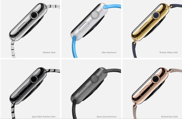 Here are the various finishes available on the Apple Watch.