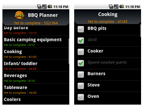 BBQ Planner - Android BBQ Apps