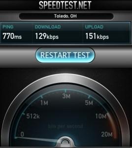 Verizon 4G Outage Speeds