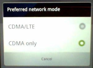 CDMA LTE Toggle