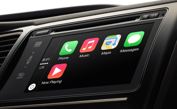 Apple CarPlay looks much like a iPhone home screen.