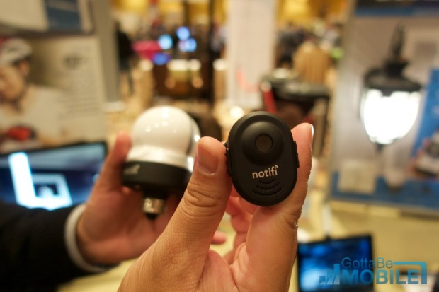 The Notifi camera gets power and connectivity through the LED bulb that screws in to a traditional light socket.