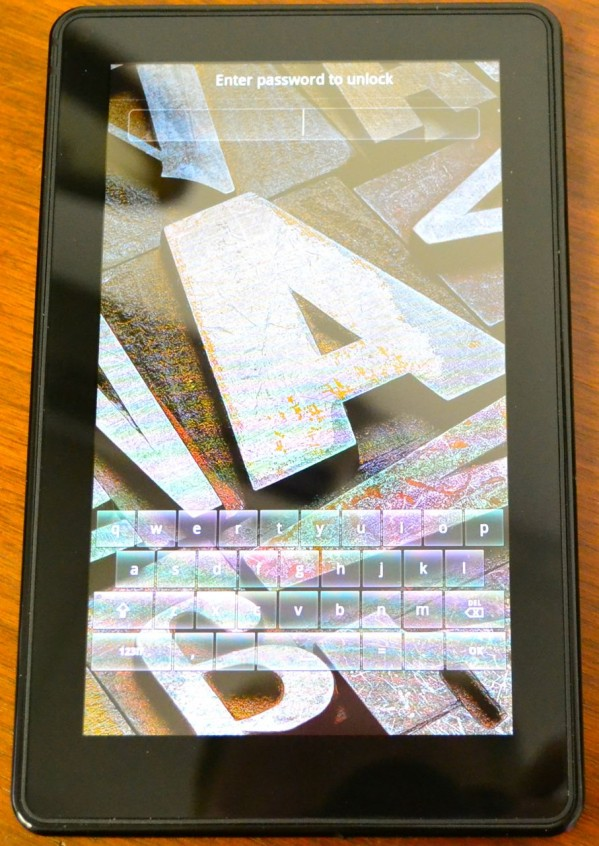 Lock Screen Password on Kindle Fire