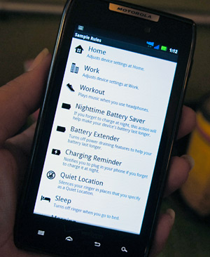 Smart Actions - Droid RAZR